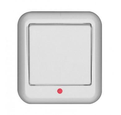 Выключатель 1-клавишный ОП Прима 10А с индикацией белый SchE VA1U-111-B (ВА1У-111-б)