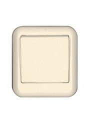 Выключатель 1-клавишный ОП Прима 6А слоновая кость SchE A16-051-S (А16-051-с)