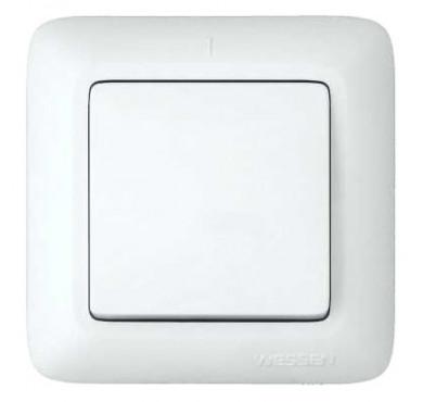Выключатель 1-клавишный СП Прима 10А белый SchE VS1U-116-B (ВС1У-116-б)