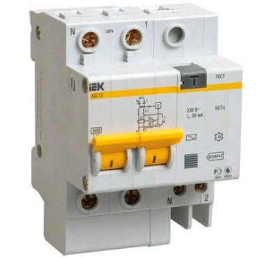 Выключатель диффер. тока 2п 3.5мод. C 40A 100mA тип AC 4.5kA АД-12 ИЭК