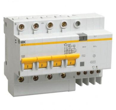 Выключатель диффер. тока 4п 6.5мод. C 25A 30mA тип AC 4.5kA АД-14 ИЭК