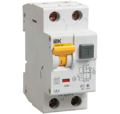 Выключатель диффер. тока 1п+N 2мод. C 10A 30mA тип AC 6kA АВДТ-32 ИЭК