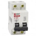 Выключатель автоматический модульный 2п B 16А 4.5кА ВА 47-63 PROxima EKF mcb4763-2-16В-pro