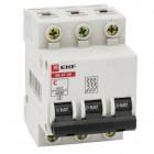 Выключатель автоматический модульный 3п B 25А 4.5кА ВА 47-63 PROxima EKF mcb4763-3-25В-pro