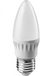 Лампа светодиодная 71 630 OLL-C37-6-230-2.7K-E27-FR 6Вт свеча 2700К тепл. бел. E27 450лм 176-264В ОНЛАЙТ 19208