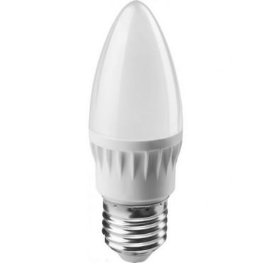 Лампа светодиодная 71 631 OLL-C37-6-230-4K-E27-FR 6Вт свеча 4000К белый E27 470лм 176-264В ОНЛАЙТ 19209