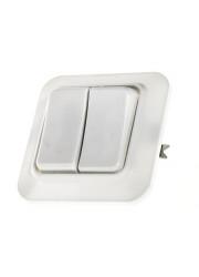 Выключатель 2-кл. СП 6.3А IP20 С56-У02 белый БЕЛ. ЦЕРКОВЬ