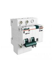Выключатель диффер. тока 2п 4.5мод. C 60A 30мА тип AC 4.5кА ДИФ-101 DEKraft