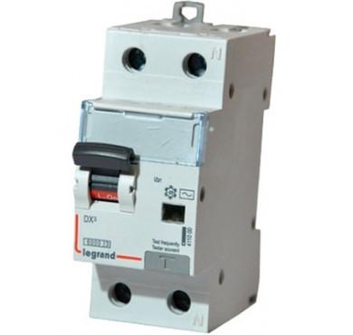 Выключатель диффер. тока 1п+N 2мод. C 16A 30mA тип AC 6/10kA DX3 Legrand
