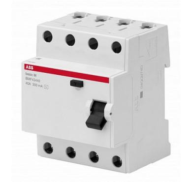 Выключатель диффер. тока 4п 25А 30мА тип AC Basic M BMF41425 CSF604041R1250