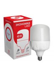 Лампа светодиодная высокомощная LED 40Вт E27 6500К ЭКОНОМКА Eco40wHWLEDE2765