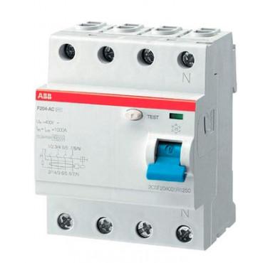 Выключатель диффер. тока 4п F204 AC-63/0,03 2CSF204001R1630