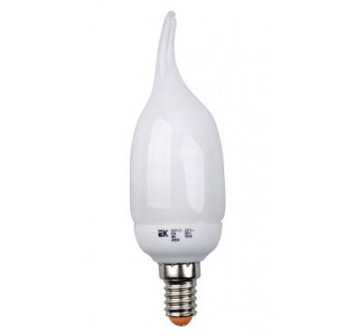 Лампа люминесцентная компакт. КЭЛ-CВ 9Вт E14 свеча 2700К ИЭК LLE61-14-009-2700