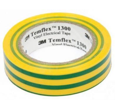 Изолента ПВХ 15мм Temflex 1300 жел./зел. (рул.10м) 3М 7100081324