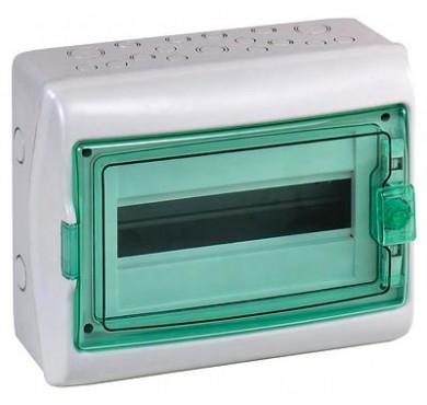 Бокс ОП Kaedra 18 модулей IP65 серый прозрачная дверь Sche 13982