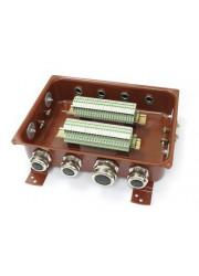 Коробка клеммная КЗНС-48 с латунными сальниками IP65 ЗЭТА