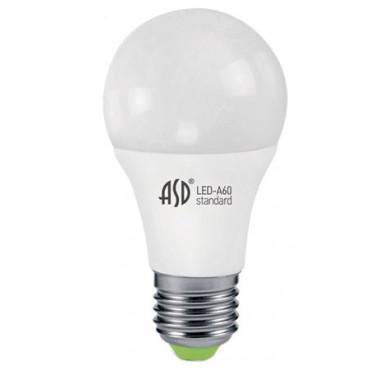Лампа светодиодная LED-A60-standard 11Вт 160-260В E27 4000К 990лм ASD 4690612001715