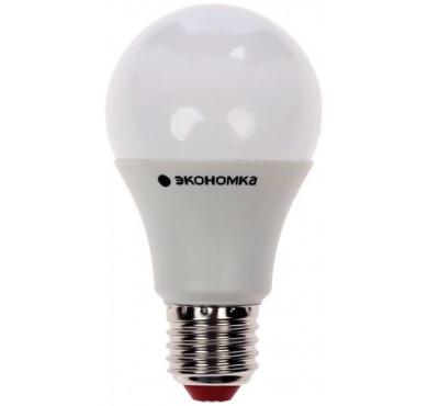 Лампа светодиодная LED 7Вт A60 E27 3000К ЭКОНОМКА Eco_LED7wA60E2730