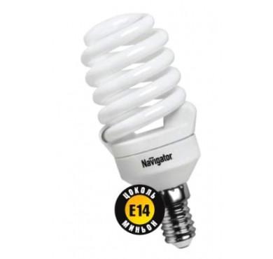 Лампа люминесцентная компакт. 94 297 NCL-SF10-20-827-E14 20Вт E14 спиральная 2700К Navigator 18175