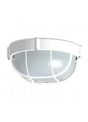 Светильник НПП 03-60-014 Банник 1302 круг малый белый матовый с решетк. IP65 Элетех 1005500936