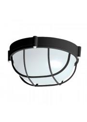 Светильник НПП 03-100-010 Банник 1102 круг большой IP65 с решеткой черный матовый Элетех 1005500927