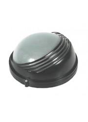 Светильник НПП 1107 черный круг реснички 100Вт IP54 ИЭК
