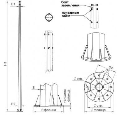 Комплект крепежа для опор ОГСФ 0.4 Пересвет В00005081