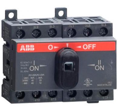 Рубильник реверсивный OT16 F3C 16A 1SCA104816R1001