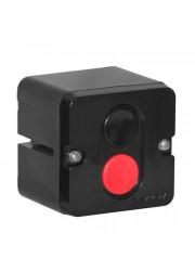 Пост кнопочный ПКЕ-712/2 Пуск-Стоп 1 черн. 1 красн. Электродеталь ПКЕ-712/2.1Ч.1К