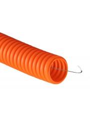 Труба гофрированная ПНД 16 мм c протяжкой оранжевая (уп.100м) ДКС 71916