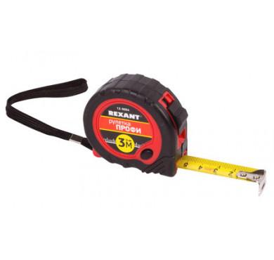 Рулетка измерительная Профи прорезин. корпус 3мх16мм Rexant 12-9004