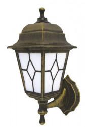 Светильник Riga бра вверх/вниз черн. золото пластик мат. стекло с рисунком IP44 E27 60Вт DUWI 24141 6