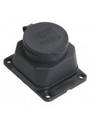 Розетка стационарная каучук IP44 16А 2P+E ОМЕГА ИЭК PKR11-016-2-K02