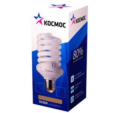 Лампа люмин. компакт. SPC 45Вт E27 спиральная 2700К Т3 КОСМОС LKsmT3SPC45wE2727