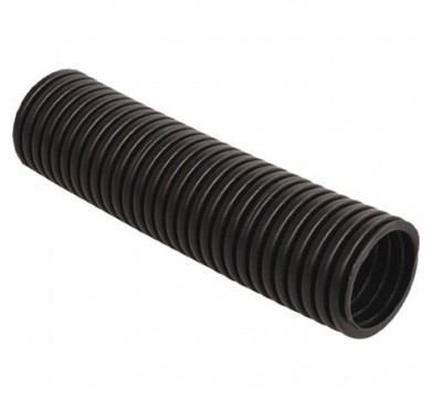 Труба гофрированная ПНД 16мм c протяжкой черная (уп.100м) ДКС 71716