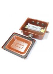 Коробка клеммная У614А с латунными сальниками IP65 ЗЭТА