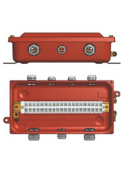 Коробка клеммная У615А с латунными сальниками IP65 ЗЭТА