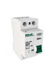 Выключатель диффер. тока 2п 40А 30мА AC УЗО-03 6кА DEKraft 14056DEK