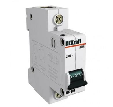 Автоматический выключатель ВА-101 1п C 32А 4.5кА DEKraft