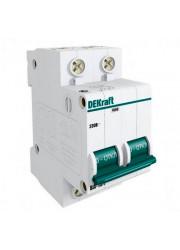 Автоматический выключатель ВА-101 2п C 10А 4.5кА DEKraft