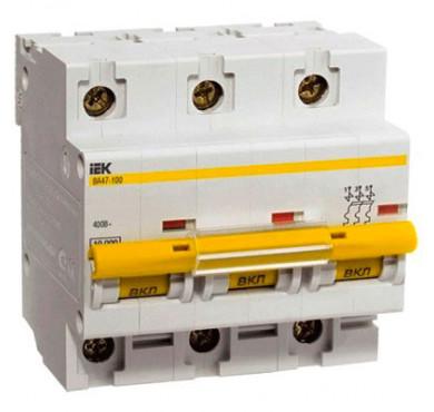Автоматический выключатель ВА47-100 3P C 100 А ИЭК