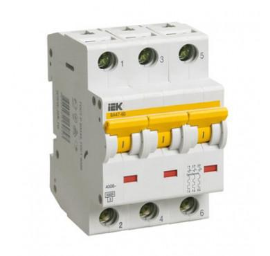 Автоматический выключатель ВА47-60 3P C 40А ИЭК MVA41-3-040-C
