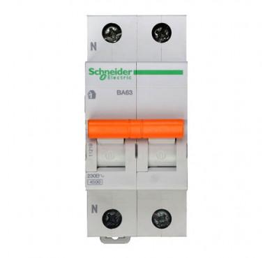 Автоматический модульный выключатель 1п+N C 16А ВА63 Домовой 4.5кА SchE 11213