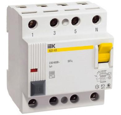 Выключатель диффер. тока 4п 25A 300mA тип AC ВД1-63 ИЭК