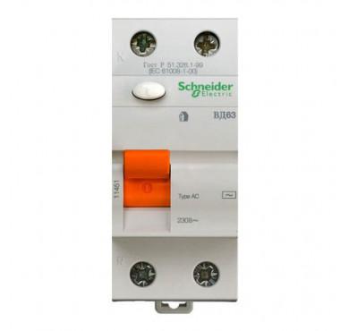 Выключатель диффер. тока 2п 63А 300мА тип AC ВД63 Домовой SchE 11456