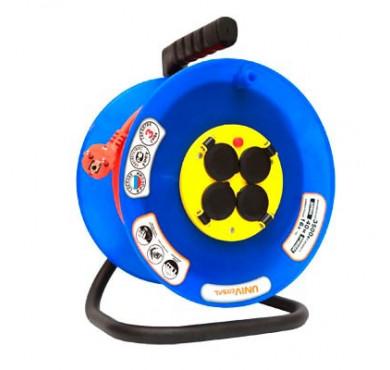 Удлинитель ВЕМ-250 4х40м на катушке термо IP44 ПВС 3х1.5 розетки с защ. крышкой UNIVersal 9634175