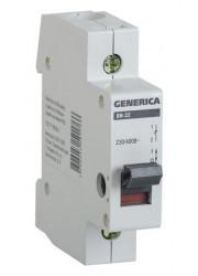 Выключатель нагрузки 1п ВН-32 20А GENERICA ИЭК MNV15-1-020
