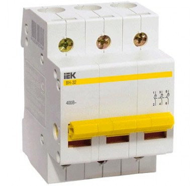 Выключатель нагрузки ВН-32 100А 3п ИЭК MNV10-3-100