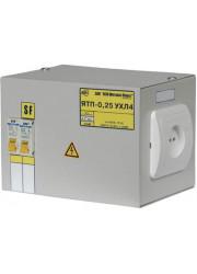Ящик с понижающим трансформатором ЯТП 0.25 220/12B (2 авт. выкл.) ИЭК MTT12-012-0250