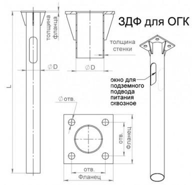 Деталь фундамента закладная для ОГК/ОКК-8.9.10 ОП3ф (0.159-2.0х240х180х4х25) Пересвет В00000210